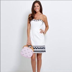 Vineyard Vines Strapless White Dress size 4